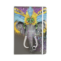 "Geordanna Cordero-Fields ""My Elephant with Headdress"" Gray Rainbow Everything Notebook"