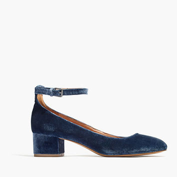 The Inez Ankle-Strap Shoe in Velvet
