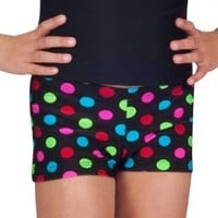Child Printed Dance Shorts,N8365PC