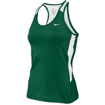 Nike Womens Airborne II Dri-Fit Tank Top w Built In Bra Green/White (Small)