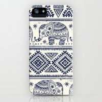 Tribal vintage ethnic elephant pattern iPhone & iPod Case by Maju Fernandez
