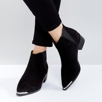 ASOS ADMISSION Pointed Ankle Boots at asos.com
