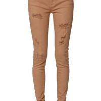 Rust Skinniest Jeans - Womens Jeans - Red -