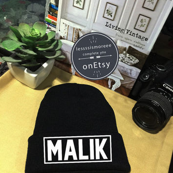 Zayn Malik Beanie Malik 93 Cuffed Beanies Winter Hat Beanie Hat Use Flock Flex Really High Quality