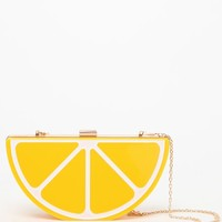 Nila Anthony Lemon Clutch Purse - Womens Handbags - Yellow - One