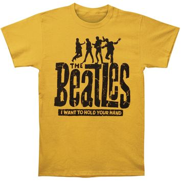 Beatles Men's  Hold Your Hand Slim Fit T-shirt Yellow