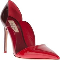 Valentino Garavani Colour Block Scalloped Pump - Biondini - Farfetch.com
