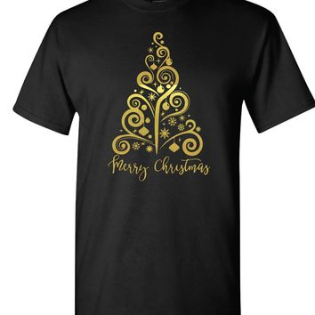 Gold Foil Christmas Tree-  TShirt