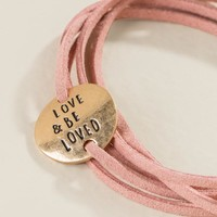 Love & Be Loved Suede Wrap Bracelet