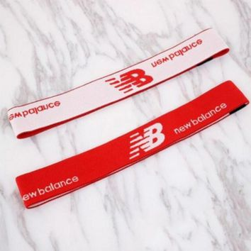 New Balance Sport Yoga Gym Motion Headband Hair Hoop Red