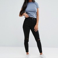 New Look Petite Disco Jeans at asos.com