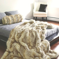 Fox Kitt Faux Fur Throw Blanket