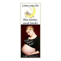 Love You to the Moon Bookmark - Laminated Bookmark - Unique Bookmark - Baby Keepsake - Memorable Gifts