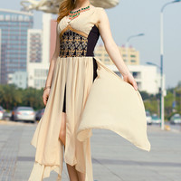 'The Alexandria' Sleeveless Chiffon Maxi Dress