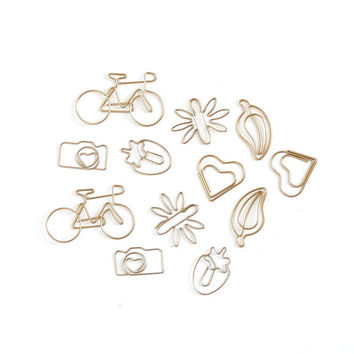 Hazelwood Gold Shaped Paper Clips