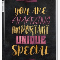 'You are amazing important unique special #motivationialquote' iPad Case/Skin by JBJart