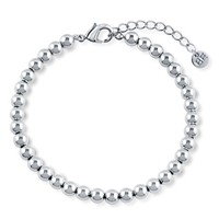Silver-Tone Bead Bead BraceletBe the first to write a reviewSKU# b288-01