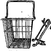 Wald Standard Bicycle Lift Off Basket $17.99