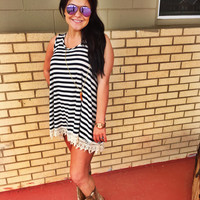 Stripes On Top Tunic