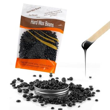 Black Hard Wax Beans for Hair Removal, Painless Depilatory Waxing Beads Pearl Wax for Men Women Hair Removal (Tasteless)