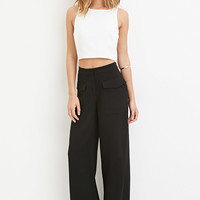 Flap Pocket Wide-Leg Pants