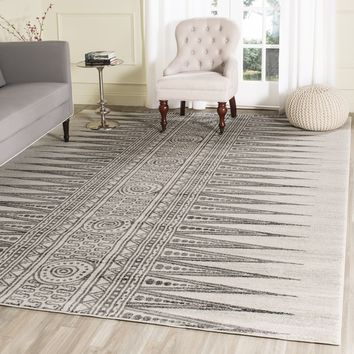 Safavieh Evoke Ivory/ Grey Rug (9' x 12') | Overstock.com Shopping - The Best Deals on 7x9 - 10x14 Rugs