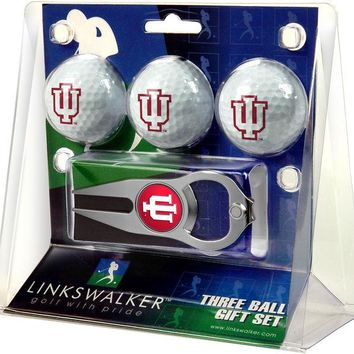 Indiana Hoosiers Collegiate Hat Trick Divot Tool 3 ProVictory Ball Gift Pack
