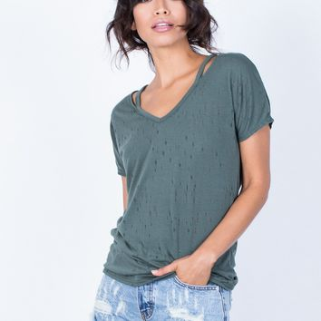 So Torn Basic Tee