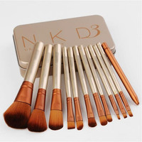 12 pcs N K D 3 Makeup Brushes Set