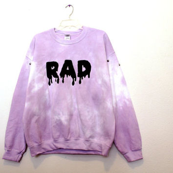 Purple cloud RAD sweatshirt Large