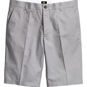 H&M - Chino Shorts - Gray - Men