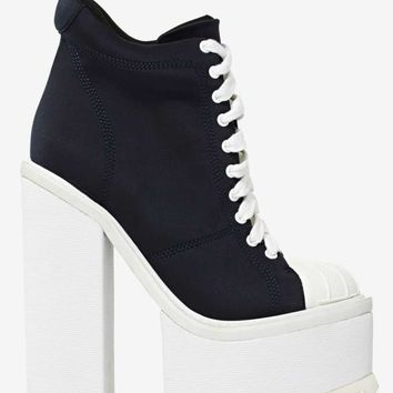 Jeffrey Campbell Hoops Neoprene Platform Boot