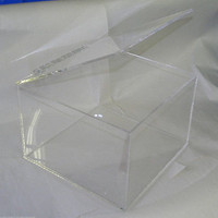 Acrylic Storage Box, Custom Hand Made, Clear Display