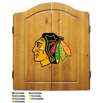 Chicago Blackhawks NHL Dart Board w-Cabinet