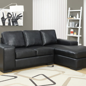 Black Bonded Leather / Match Sofa Lounger