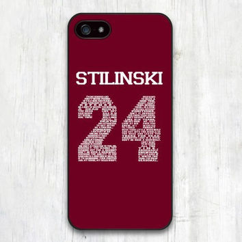Teen Wolf STILINSKI 24 Words Plastic Hard Cover Case for iphone 4/4s/5/5s/5c/6/6plus