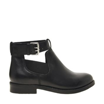 ASOS ASCOT Leather Cut Out Ankle Boots