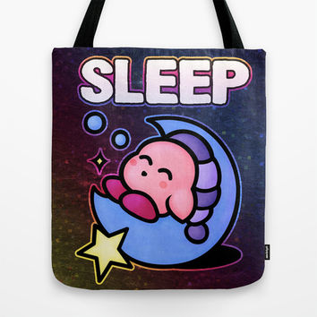 Kirby Sleep Tote Bag by Likelikes