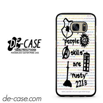 Herlock Supernatural And Dean And Cas DEAL-5261 Samsung Phonecase Cover For Samsung Galaxy S7 / S7 Edge