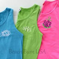 Monogrammed Tank Top Comfort Colors Tee Shirts