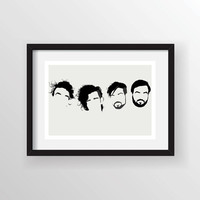 The 1975 Band - Minimalist  Heads Poster Print, Minimal Wall Art - Limited Edition of 250
