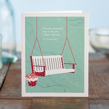 The Most Beautiful View, A Positively Green Love and Valentine's Day Card