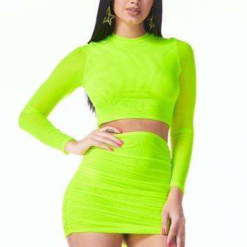 Avenue of the Stars Mesh Two Piece Set