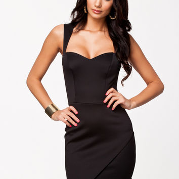 Strappy Wrap Bodycon Mini Dress
