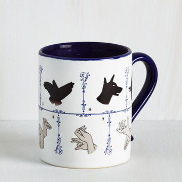 Quirky Puppet Show Me the Way Mug by ModCloth