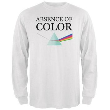 LMFON Halloween Absence of Color Costume Mens Long Sleeve T Shirt
