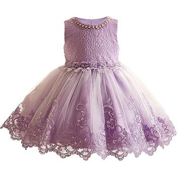 Embroidered Formal Princess Gown