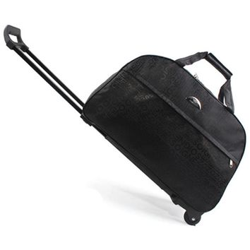2018 New Wheel Luggage Metal Trolley Bag Women Travel Bags Hand Trolley Unisex Bag Large Capacity Travel Bags Suitcase Sac Board