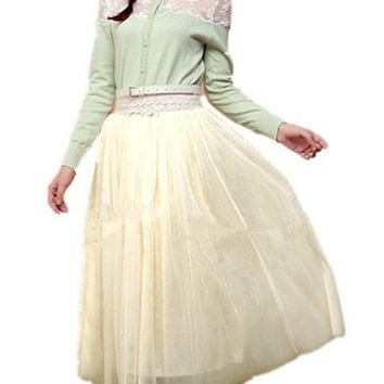 V28® Women 6-layer Mid Tulle Tutu Ballet Ruffle Bridal Petticoat Princess Skirt