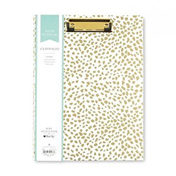 "BLUE SKY CLIPBOARD PADFOLIO ""GOLD SPOTTY"" DAY DESIGNER SIZE 8.5 X 11''"